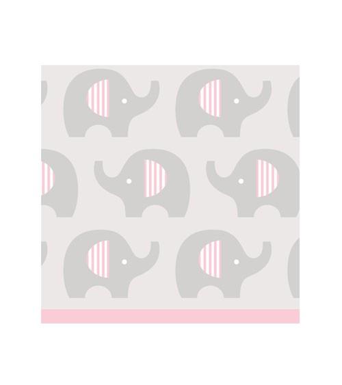 """Cocktail-Servietten """"Kleiner Elefant - rosa"""" - 16 Stück"""