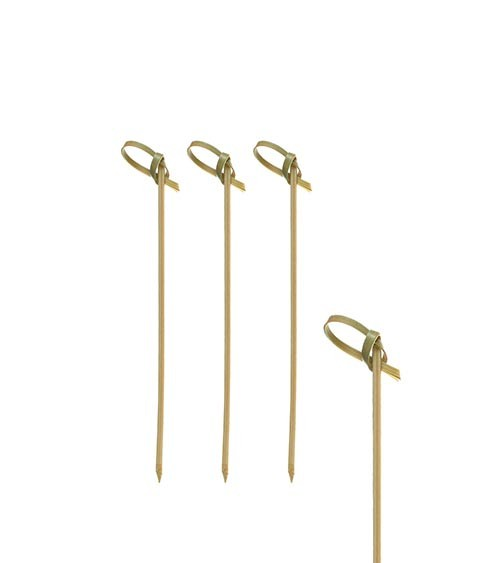 "Fingerfood-Spieße aus Bambus ""Knoten"" - 10 cm - 40 Stück"