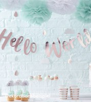 """Schriftzuggirlande """"Hello World"""" - 1,1 m"""