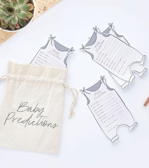 "Babyparty-Spiel ""Baby Predictions"" - mit Stoffbeutel - 21-teilig"