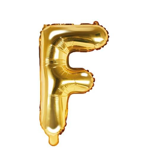 "Folienballon Buchstabe ""F"" - gold - 35 cm"
