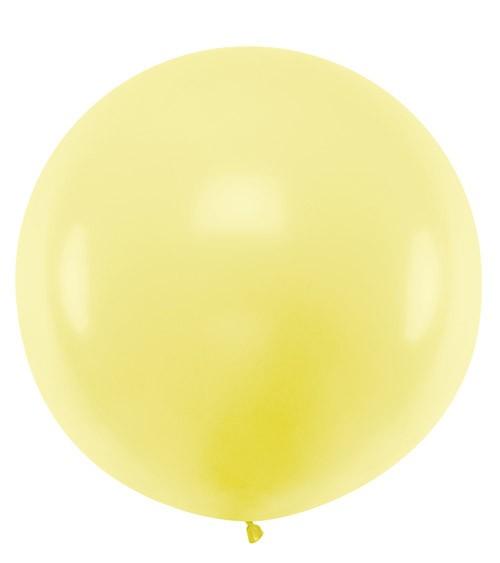 Riesiger Rundballon - pastell gelb - 1 m