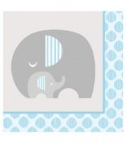 """Servietten """"Kleiner Elefant - hellblau"""" - 16 Stück"""