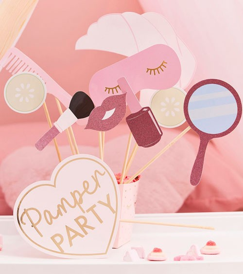 """Photobooth Props """"Pamper Party"""" - 10-teilig"""