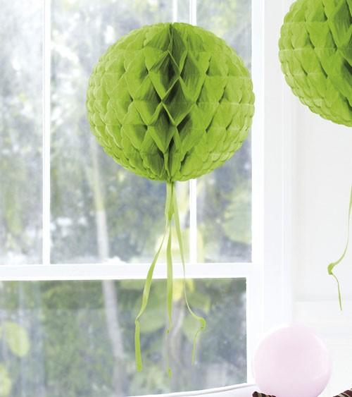 Wabenball mit Tasseln - 30 cm - hellgrün