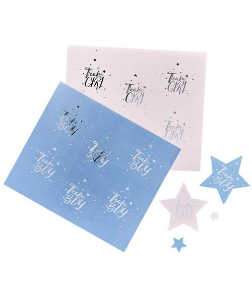 "Sticker-Set ""Team Girl & Team Boy"" - 24-teilig"