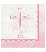 """Servietten """"Rosa Kreuz"""" - 16 Stück"""