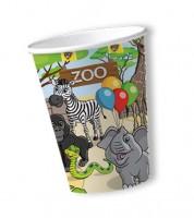 """Pappbecher """"Zoo"""" - 8 Stück"""