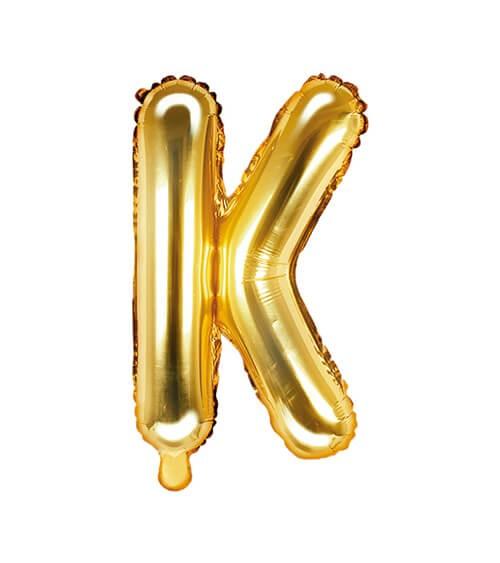 "Folienballon Buchstabe ""K"" - gold - 35 cm"