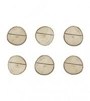 """Tischkartenhalter aus Holz """"Baumscheiben"""" - 6 Stück"""