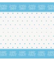 """Kunststoff-Tischdecke """"Baby Shower - blau"""" - 137 x 213 cm"""