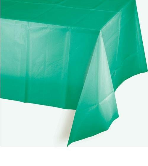 Kunststoff-Tischdecke - teal - 137 x 274 cm