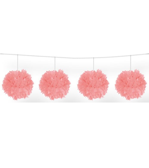 Pom Pom Girlande - rosa - 3m