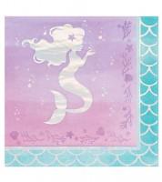 """Servietten """"Mermaid Shine"""" - 16 Stück"""
