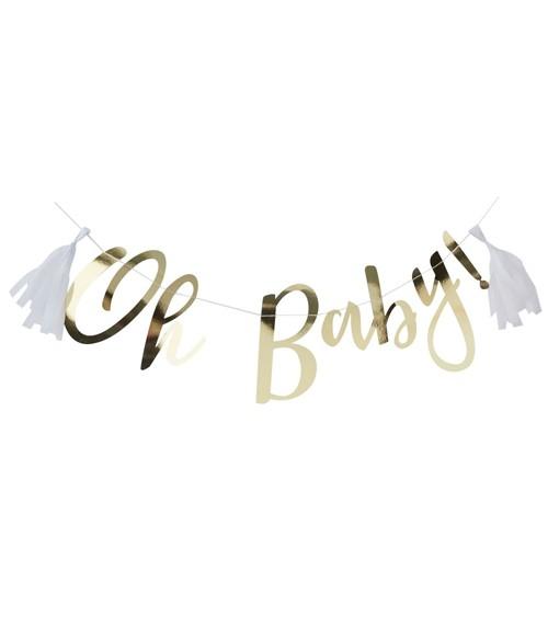 """Schriftzuggirlande mit Tasseln """"Oh Baby"""" - 1,5 m"""