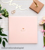 "Gästebuch ""For sweet Memories"" - rosa/rosegold"