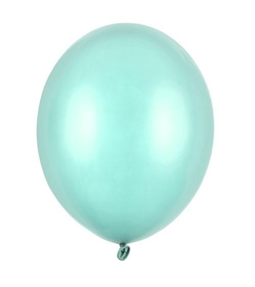 Metallic-Luftballons - mintgrün - 10 Stück
