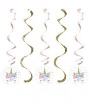 "Spiralgirlanden ""Unicorn"" - 5 Stück"