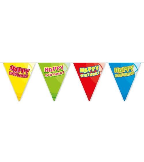 "Mini-Wimpelgirlande ""Luftballons"" - Happy Birthday - 3 m"