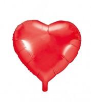 Herz-Folienballon - rot - 45 cm